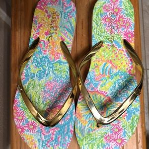 Lilly Pulitzer Shoes - Brand new Lily Pulitzer Flip flops